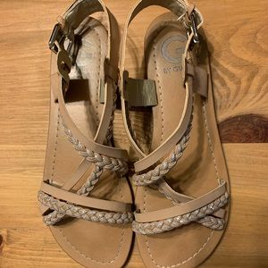 Natural tan G by Guess flat sandals